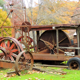 Old Oil Field Machinery by Denise Guthery - Transportation Other