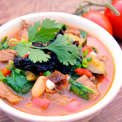 Sun-Dried Tomato, Flank Steak & White Bean Stew