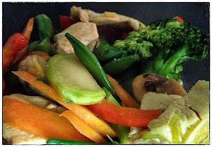 Low carb spicy chicken and vegetable wok