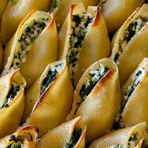 "Tofu ""Ricotta"" Stuffed Shells with Spinach and Eggplant Recipe ..."