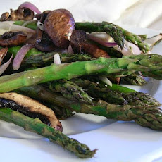 Roasted Asparagus, Mushrooms and Onions