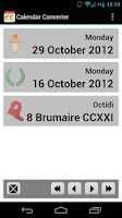 Screenshot of Calendar Converter Free