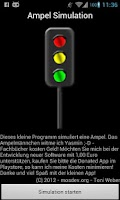 Screenshot of Trafficlight simulation
