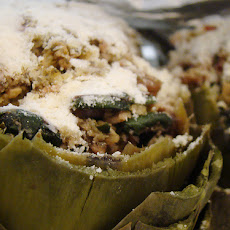 Pesto-Artichoke Stuffing W/Tomatoes and Pine Nuts
