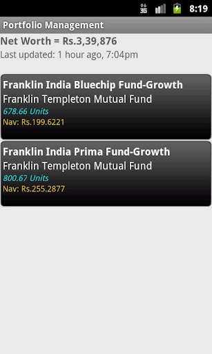 Indian Mutual Funds Tracker