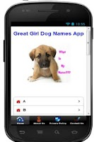 Screenshot of Cute Girl Dog Names App