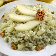 Gorgonzola and Pear Risotto with Walnuts - Risotto con Gorgonzola, Pere e Noci