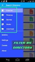 Screenshot of FileHog: Large File Manager