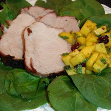 Roasted Pork Tenderloin With Minted Mango Relish