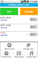 Screenshot of Working time