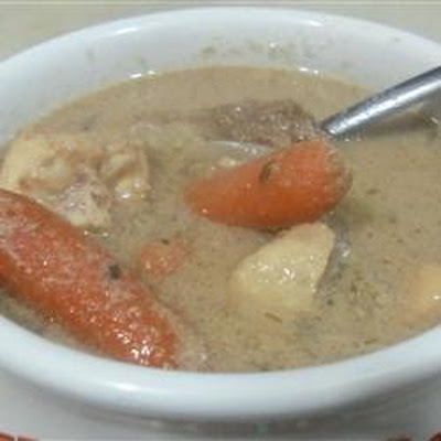 Deer Soup with Cream of Mushroom and Celery