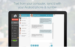 Screenshot of MightyText SMS Text Messaging