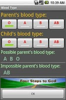 Screenshot of Blood Type