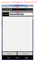 Screenshot of Dictation and Mail