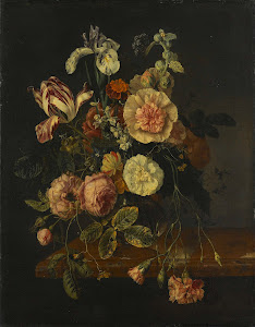 RIJKS: attributed to Jacob van Walscapelle: painting 1727