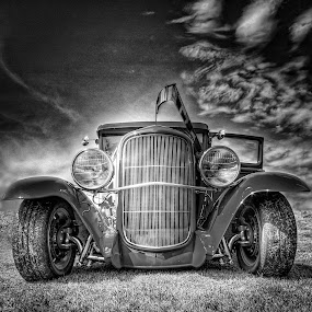 Sky Rod by Ron Meyers - Black & White Objects & Still Life ( 2013 tahlequah car show )