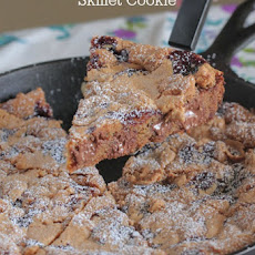 Peanut Butter and Jelly Skillet Cookie