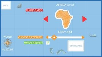 Screenshot of World Map Puzzle