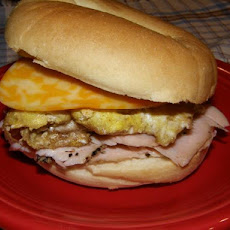 Awesome Breakfast Bagel Sandwich