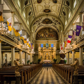 New Orleans by Laimis Urbonas - Buildings & Architecture Places of Worship ( new orleans, building, flags, ceiling, architectural detail, travel, worship, Architecture, Ceilings, Ceiling, Buildings, Building )