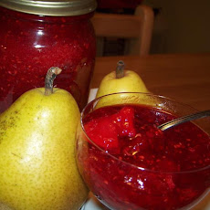 No-Cook Raspberry Pear Jam