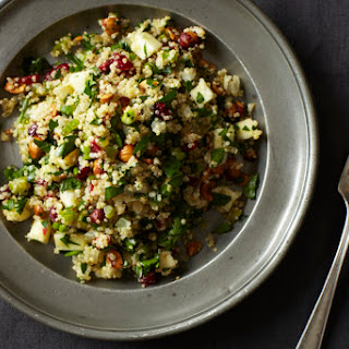 Quinoa Salad with Hazelnuts, Apple and Dried Cranberries