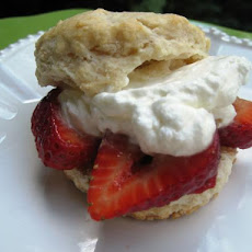 Strawberry Shortcake With Balsamic Honey