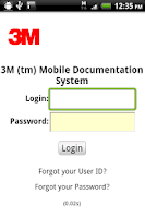 Screenshot of 3M Mobile Documentation System