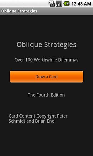 Deprecated-Oblique Strategies