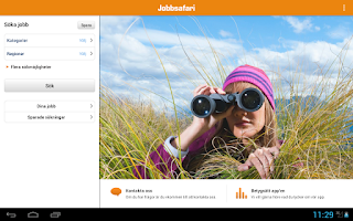 Screenshot of Jobbsafari Jobb App