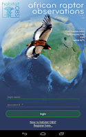 Screenshot of African Raptor Observations