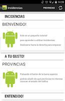 Screenshot of Incidencias