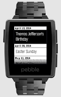 Screenshot of Calendar for Pebble