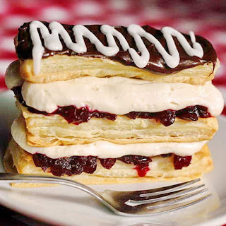 Partridgeberry Cream Cheese Napoleons
