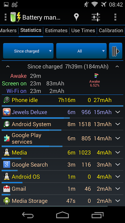 3C Battery Monitor Widget Pro Screenshot 4