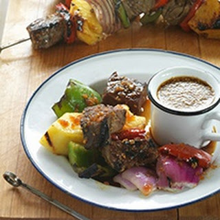 Grilled Steak, Pineapple And Mixed Pepper Kebabs With Veri Veri Teriyaki