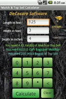 Screenshot of Mulch Calculator