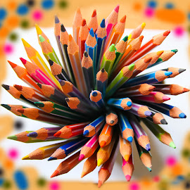 Colors of Life by Meer Baloch - Uncategorized All Uncategorized ( orange, red, blue, abstract art, colors, yellow, black,  )