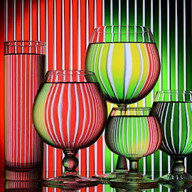 Odd one out by Rakesh Syal - Artistic Objects Glass ( vertical lines, pwc )