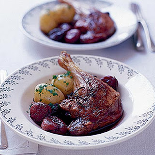 Roast Duck Legs With Red Wine Sauce