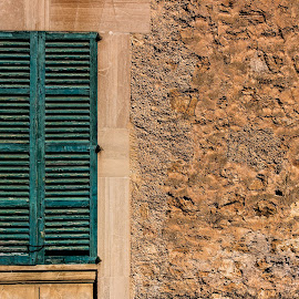 Old Window by Damir Roz - Buildings & Architecture Other Exteriors ( old, building, window, green, mallorca, mistic, wall )