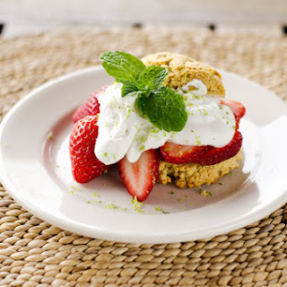 Paleo Strawberry Shortcake with Lime Coconut Cream