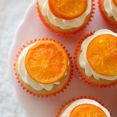 Orange Vanilla Bean Cupcakes