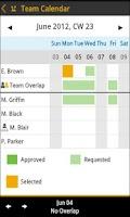 Screenshot of SAP Leave Request