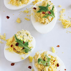 Dill & Goat Cheese Deviled Eggs
