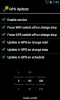 Screenshot of GPS Updater
