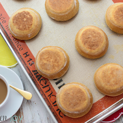 Homemade Honey Wheat English Muffins