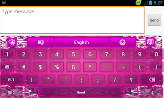 Screenshot of GO Keyboard Purple Glow