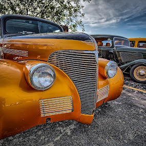 Gold Chevy by Ron Meyers - Transportation Automobiles