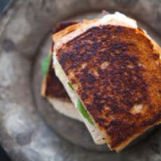 Turkey Grilled Cheese Sandwich with Pickled Onions